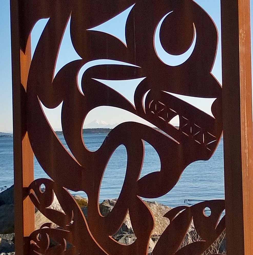 Images of the original Salish Sea sculpture