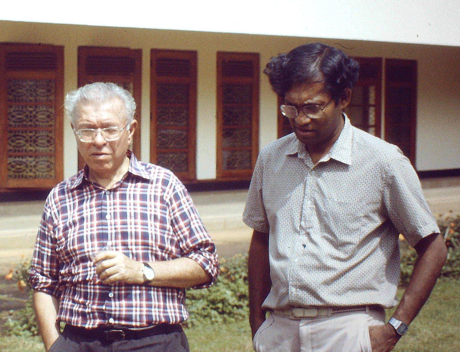 With Fred Hoyle SriLanka1981.jpg