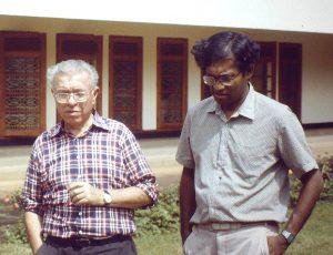 With Fred Hoyle SriLanka1981
